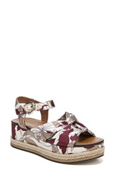 Naturalizer Berry Platform Sandal Taupe Fabric