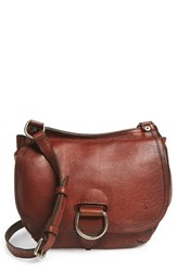 Frye 'Amy' Leather Crossbody Bag Brown Cognac