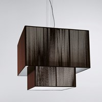 Axo Light Clavius Double Tier Pendant Black Brown Ivory