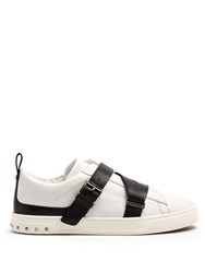 Valentino V Punk Low Top Leather Trainers White Multi