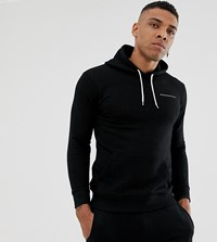 Good For Nothing Muscle Fit Hoodie In Black With Logo