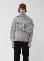 Sacai Wool Pullover With Scarf L Gray L Gray