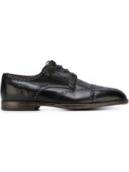Dolce And Gabbana Studded Brogue Shoes Black