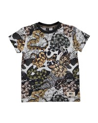 Molo Cotton Snake Print Jersey Tee Multicolor