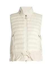 Moncler Hooded Quilted Down And Cotton Gilet White