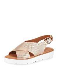 Gentle Souls Kiki Perforated Comfort Sandal Rose Gold