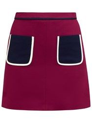 Ted Baker Colour By Numbers Naira Modern Contrast Pocket Detail Skirt Maroon