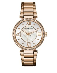 Kenneth Cole Classic Mother Of Pearl Dial Battery Powered Analog Watch Rose Gold