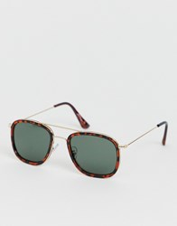 Jeepers Peepers Square Frame Sunglasses Brown