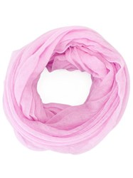 Isabel Marant Knitted Circle Scarf Pink Purple