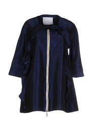 Normaluisa Coats And Jackets Full Length Jackets Women Dark Blue