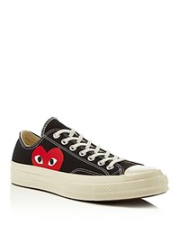 Comme Des Garcons Play Converse Chuck Taylor Play Low Top Sneakers Black