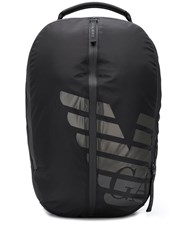 Emporio Armani Logo Backpack Black