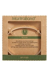 Mantraband Women's Let It Go Engraved Cuff Rose Gold
