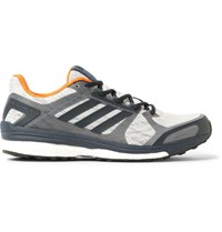 Adidas Sport Supernova Sequence 9 Rubber Trimmed Mesh Running Sneakers Gray