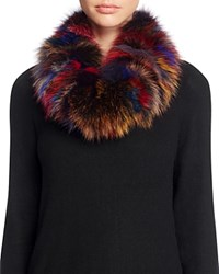Surell Fox Fur Infinity Loop Scarf Multi
