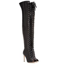 Gianvito Rossi Marie Satin Over The Knee Boots Black
