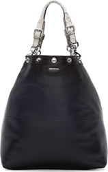 Mcq By Alexander Mcqueen Black Leather Lilla Bucket Tote