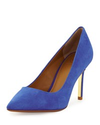 Tory Burch Elana Suede 85Mm Pump Jelly Blue Women's Jelly Blue Colbal