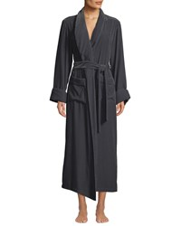 Vivis Daniela Velour Long Robe Dark Gray