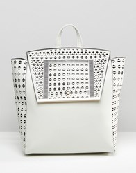 Asos Laser Cut Backpack Grey