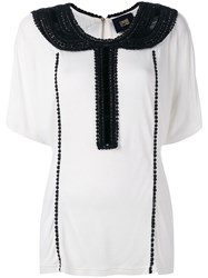 Class Roberto Cavalli Embellished Collar Blouse Women Viscose 40 White