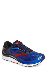 Brooks Men's Transcend 4 Running Shoe Blue Black Red