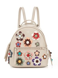 Fendi By The Way Mini Flower Applique Backpack Grey Multi