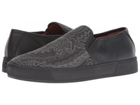 Etro Printed Paisley Slip On Sneaker Black Shoes