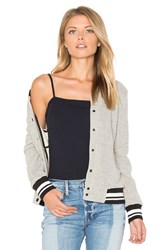 Cupcakes And Cashmere Carlton Bomber Jacket Gray