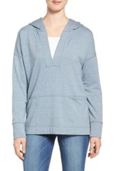 Caslon Hooded Pullover Tunic Blue