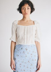 Farrow Avril Cropped Top In White Size Small