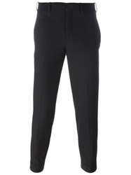 Neil Barrett Slim Fit Cropped Trousers Black