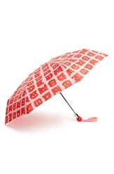 Marc By Marc Jacobs 'Stacked Logo' Umbrella Red Ruby Red Multi