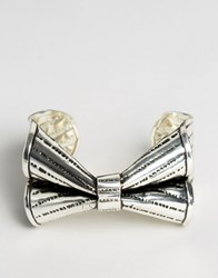 Asos Bow Cuff Bracelet Antique Silver