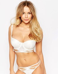 Asos Fuller Bust Bridal Evie Lace And Satin Cut Out Balconette Bra Ivory Cream