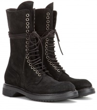 Rick Owens Army Suede Boots Black