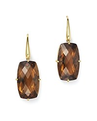 Roberto Coin 18K Yellow Gold Rectangular Drop Earrings With Citrine Orange Gold