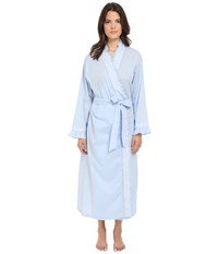 Eileen West Ballet Wrap Robe Solid Periwinkle Lawn White Floral Women's Robe Blue