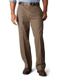 Dockers D3 Classic Fit Easy Refined Khaki Flat Front Pants Umber