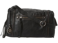 The Sak Mirada Crossbody Black Shrunken Leather Cross Body Handbags