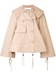See By Chloe Dislocated Fastening Oversized Jacket Nude Neutrals