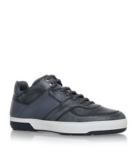 Salvatore Ferragamo Monroe Gancho High Top Trainers Male Grey