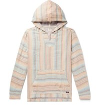 Faherty Baja Striped Tencel And Linen Blend Hoodie Multi