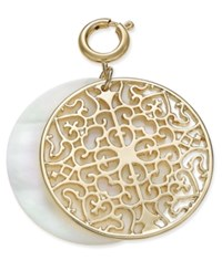 Inc International Concepts M. Haskell For Inc Gold Tone Filigree And Shell Look Clip On Pendant Only At Macy's