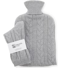 Johnstons Cashmere Socks And Hot Water Bottle Set Coyote