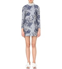 Shrimps Hilary Floral Jacquard Chambray Dress Jaquard Chambery Denim