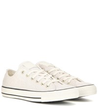 Converse Chuck Taylor All Star Ox Iridescent Suede Sneakers White