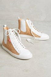Anthropologie Chaka Cork High Top Sneakers Neutral