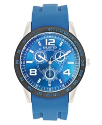 Unlisted Watch Men's Blue Silicone Strap 46Mm Ul1221